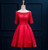 イブニングロングドレス女性膝丈スリムvestidoスラッシュネックフォーマル特別な日のaラインドレス高品質ouc846