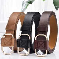 Slim Ladies Belt Fashion Girls Do Not Need To Punch Simple Jeans Students And Teenagers Retro Belt Durable Female Belt B015