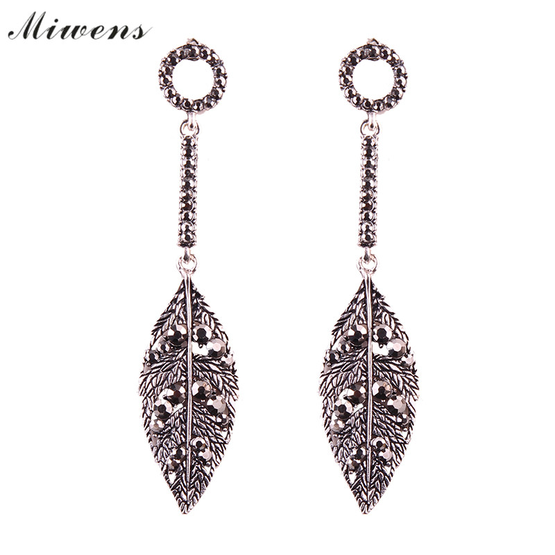 Miwens brand 2017 New three color earrings female Victorian style fashion earrings female jewelery wholesale 7279 7280 7281