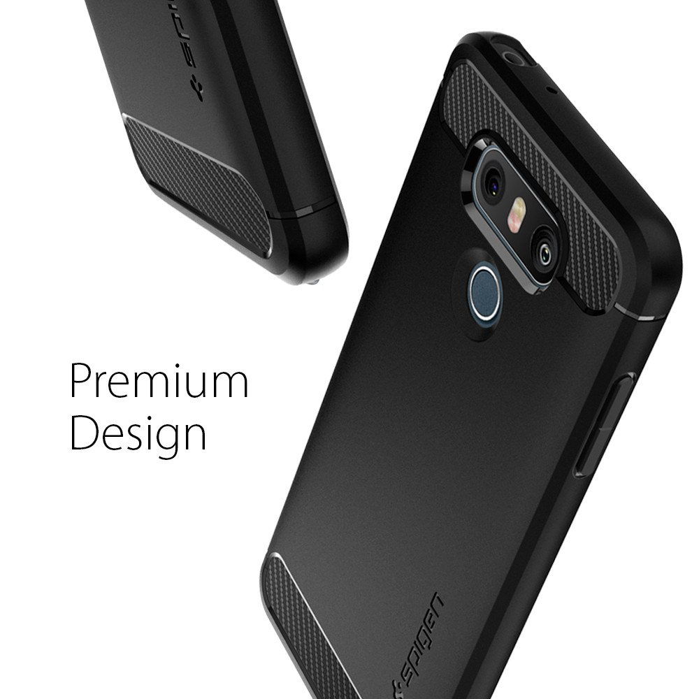 sports shoes 51952 39f9e US $16.99 |100% Original SPIGEN LG G6 G6+ Case Rugged Armor Case Black  A21CS21230-in Fitted Cases from Cellphones & Telecommunications on ...