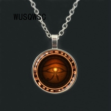 лучшая цена WUSQWSC Silver The Eye of Horus necklace Runes of magic necklace evil eye jewelry