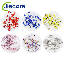 50 Pcs/Box Dental Material Diamond Bur Teeth Whitening Studs Denture Acrylic Tooth Crystal Ornament Tooth Decoration 6 Colors