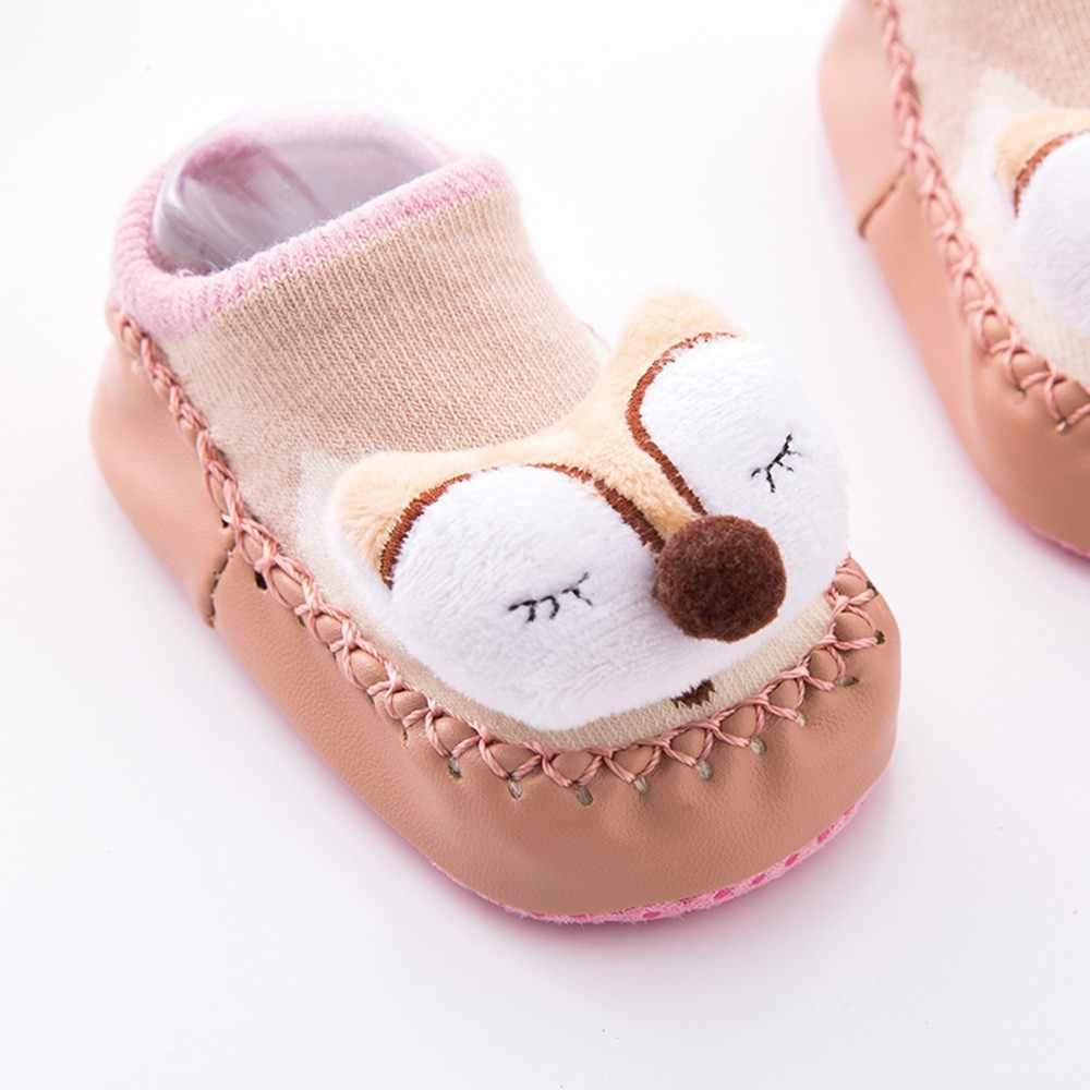 MUQGEW เด็กทารกเด็กทารกเด็กวัยหัดเดินถุงเท้าสัตว์การ์ตูน Anti-Slip ถักถุงเท้าเด็กเด็กสบายถุงเท้า