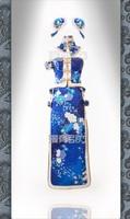 Love Live Fever! kaguya no shiro de odoritai Sonoda Umi SR cos Blue Stage Dress cheongsam the Chinese Dress Cosplay Costume