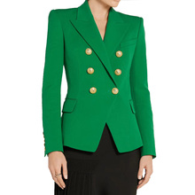 New Autumn Designer Elegant Women Casual Stunning Look Green Blazer Trend Plus Size Blazers High Quality