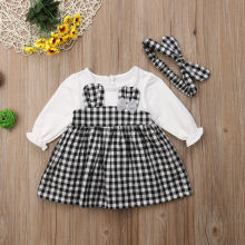 Baby Girl Bunny Ears Plaid Dress