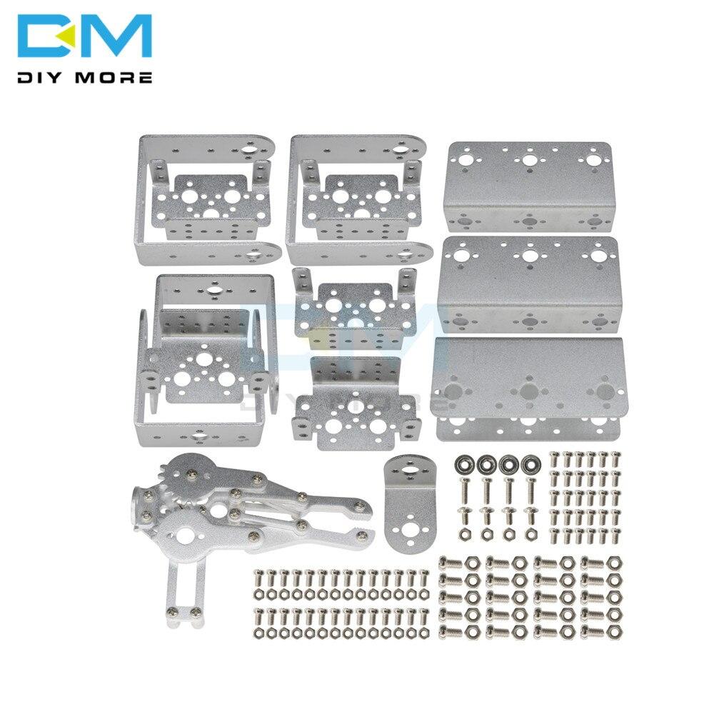 Image 5 - マニピュレータ ROT3U 6DOF アルミロボットアームの機械ロボットクランプ爪 arduino のためのシルバー -    グループ上の 電子部品