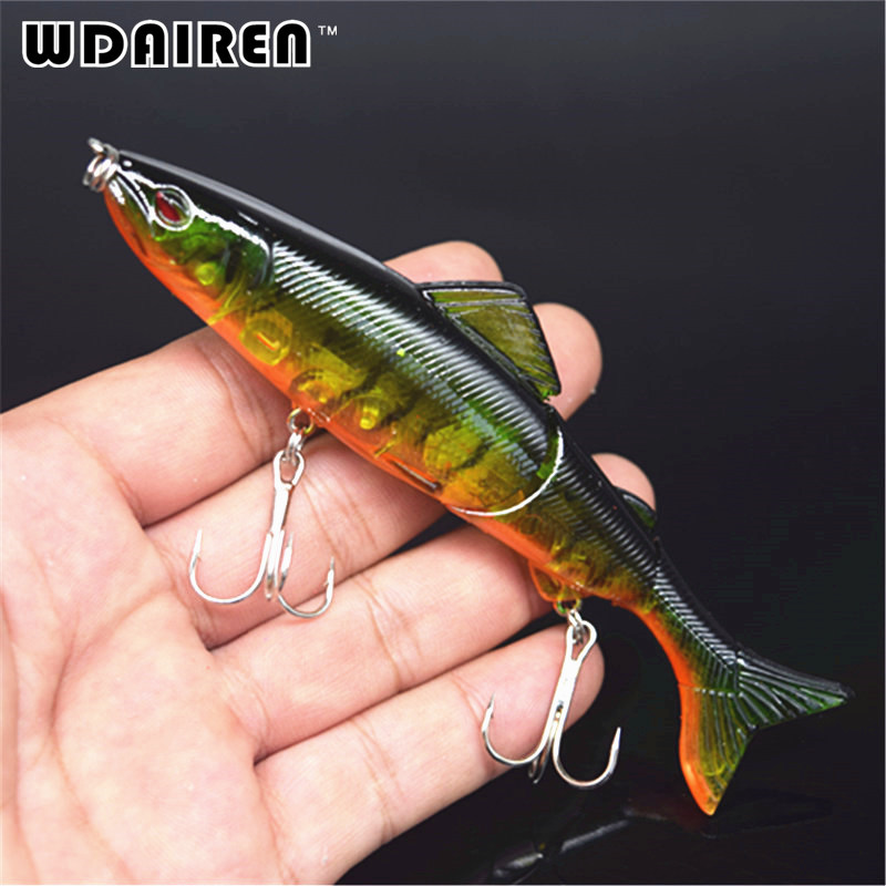 1pcs 3 Sections Fishing Minnow Lure Artificial Bait Treble Hooks 12.5cm 17.7g Crankbait Fishing Tackle 4 # Hook 8 Colors FA-358 1pcs fishing lure bait minnow with treble hook isca artificial bass fishing tackle sea japan fishing lure 3d eyes