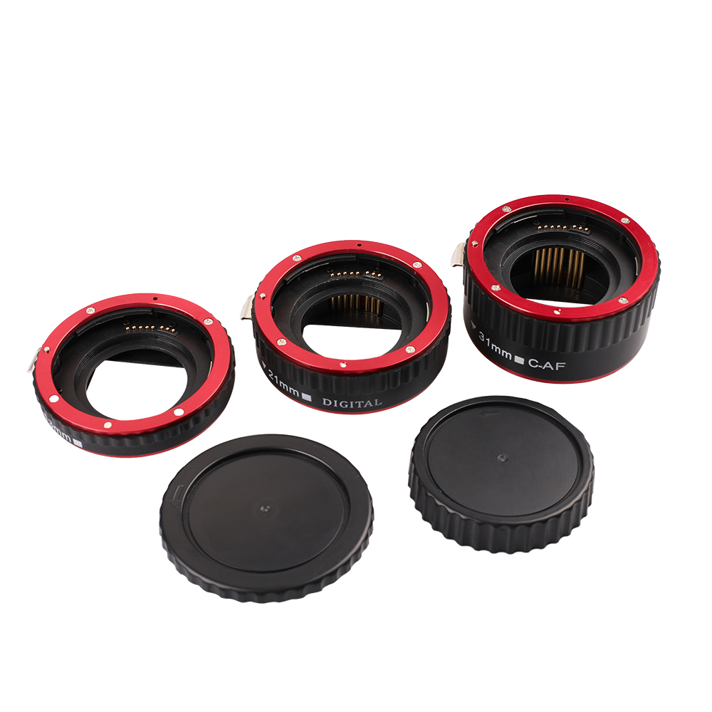 Image 5 - Kaliou 13mm 21mm 31mm Auto Focus Macro Extension Tube Set for Canon EF EF S Lens Canon 700d t5i 7d 5d Black Red Silver color-in Lens Adapter from Consumer Electronics