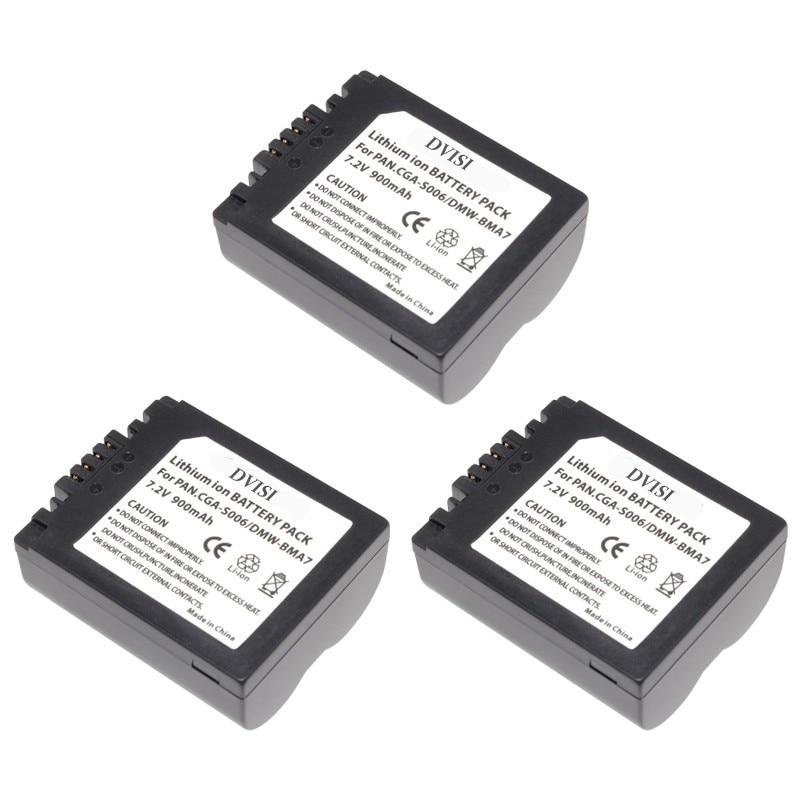 1Pc CGA-S006 CGR CGA S006E S006 S006A BMA7 DMW BMA7 Rechargeable Battery for Panasonic DMC FZ7 FZ8 FZ18 FZ28 FZ30 FZ35 FZ38 FZ50