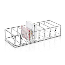 Hot sale Acrylic Makeup Organizer Show Shelf Rack Nail Polish Lipstick Storage Box(China)