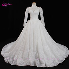 Waulizane Ball Gown Wedding Dress Cap Sleeves Bridal Gown