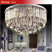 New Modern Luxury K9 Crystal Lamps Round Crystal Lightings For Living Room Study Room Bedroom Hotel