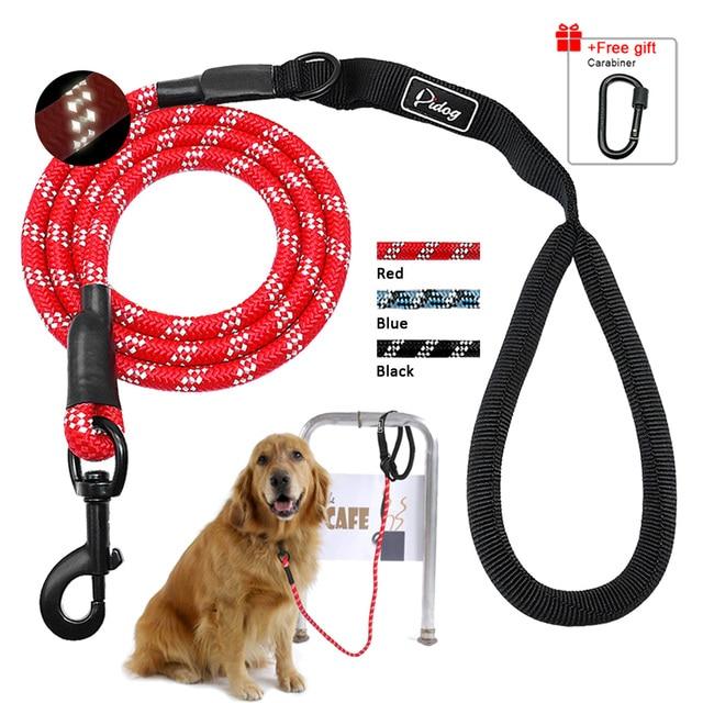 5ft Riflettente di Nylon Guinzaglio Del Cane di Addestramento Dell'animale Domes