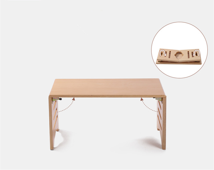 Modern Wood Folding Table For Bed Tray Breakfast Foldable Legs 60*40cm  Living Room Furniture Wooden Center Small Coffee Table In Coffee Tables  From ...