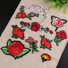 1 шт. пластырь для цветочной вышивки термопереводные железные нашивки для самостоятельной вышивки футболок декоративные аппликации 47272