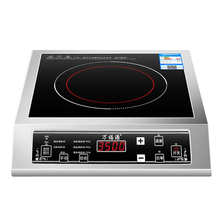 Купить с кэшбэком 3500W High Power Induction Cooker Stainless Steel Commercial Household Crystal Panel Waterproof Reservation