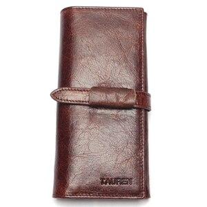 Image 2 - แบรนด์หรูใหม่ 100% ของแท้หนังCowhideคุณภาพสูงผู้ชายยาวกระเป๋าสตางค์เหรียญกระเป๋าVintage DesignerชายCarteiraกระเป๋าสตางค์
