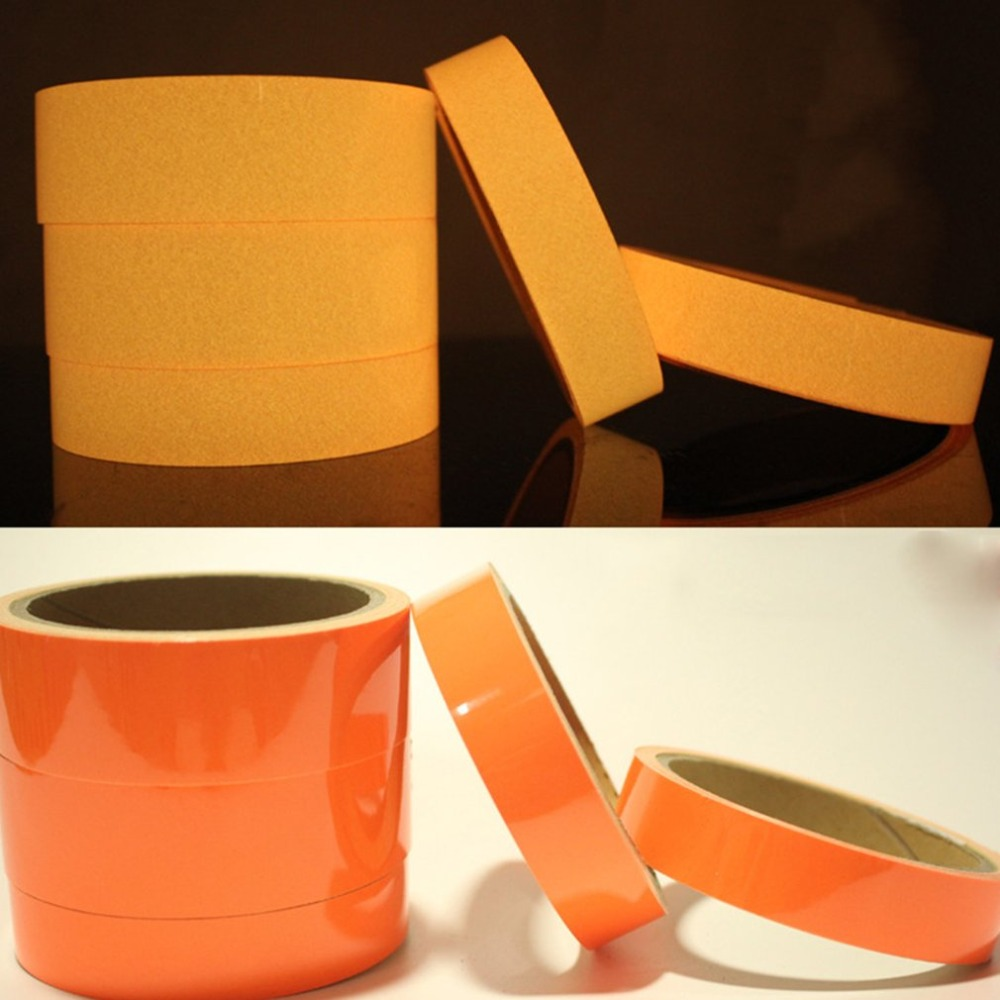 Orange Glow Tape Safety Sticker Luminous Tape Fluorescent Self-adhesive Sticker Stage Decoration Noctilucent Glowing Tape