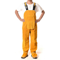 Welding Men's Overalls Safety Clothing Overalls High Temperature Protect Leather Flame Retardant Wear Repair Welding StrapDFW033