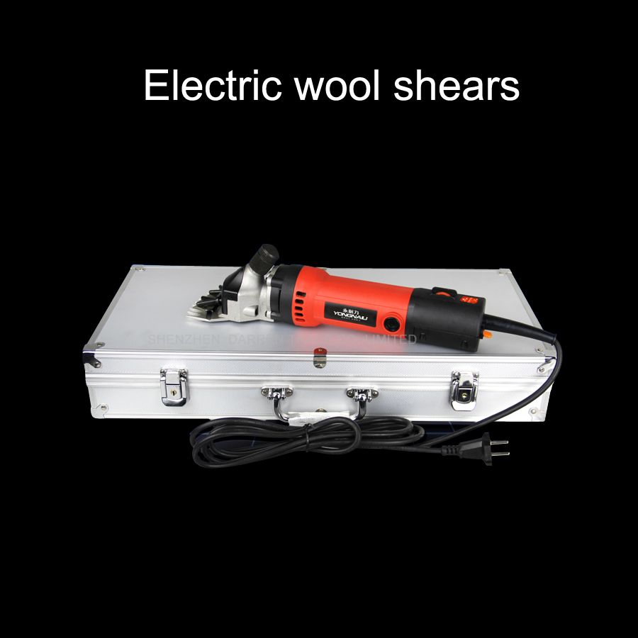 220V 680W +Aluminum box package best sheep coat pet sheeping grooming wool shears electric clipper shearing machine new 680w sheep wool clipper electric sheep goats shearing clipper shears 1 set 13 straight tooth blade comb