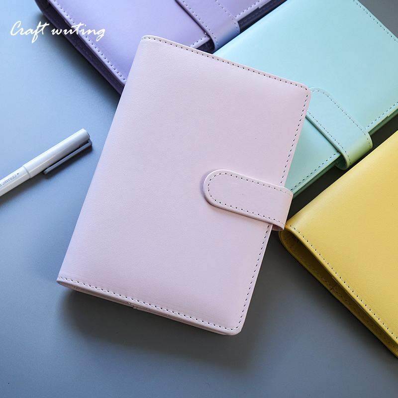 planner a5 a6 pu leather cute notebook sketchbook time