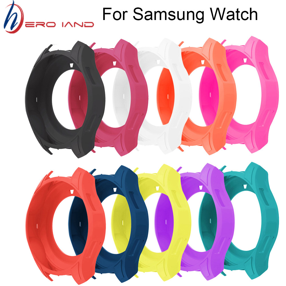 Protective Silicone <font><b>Skin</b></font> Case for <font><b>Samsung</b></font> Galaxy Watch 46mm SM-R800 Cover Shell For <font><b>Samsung</b></font> Gear <font><b>S3</b></font> <font><b>Frontier</b></font> Smart Watch image