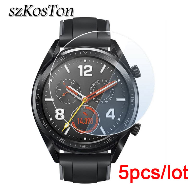 Imported From Abroad 5pcs 9h Screen Protector For Huawei Watch Gt Screen Protective Soft Pet Film For Huawei Watch Gt Eye Protection Explosion-proof Waterproof Shock-Resistant And Antimagnetic Mobile Phone Accessories