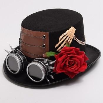 Шляпа в стиле стимпанк с очками в ассортименте вариант 6 1