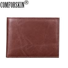 COMFORSKIN Brand Men Leather Wallet Hot Designer Short Vintage Mens Purse 2018 New Arrivals Premium Genuine