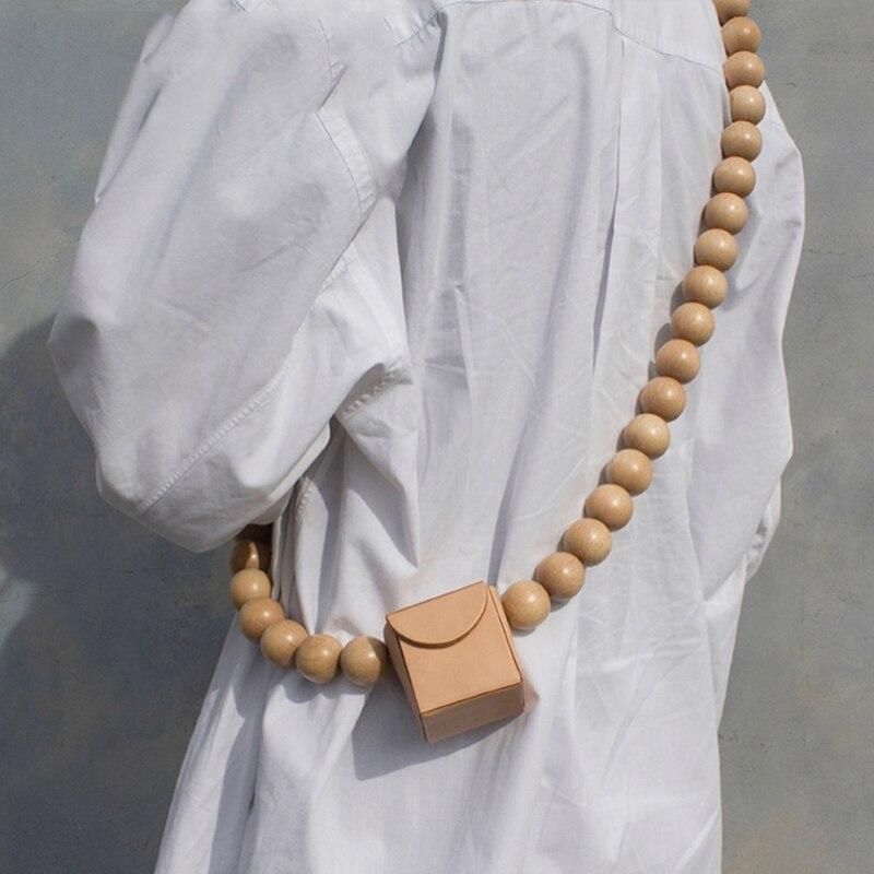 Famous Brand Woman New Stylish Personality Bead Mini Bag Single Round Breaded Straps Messenger Bag