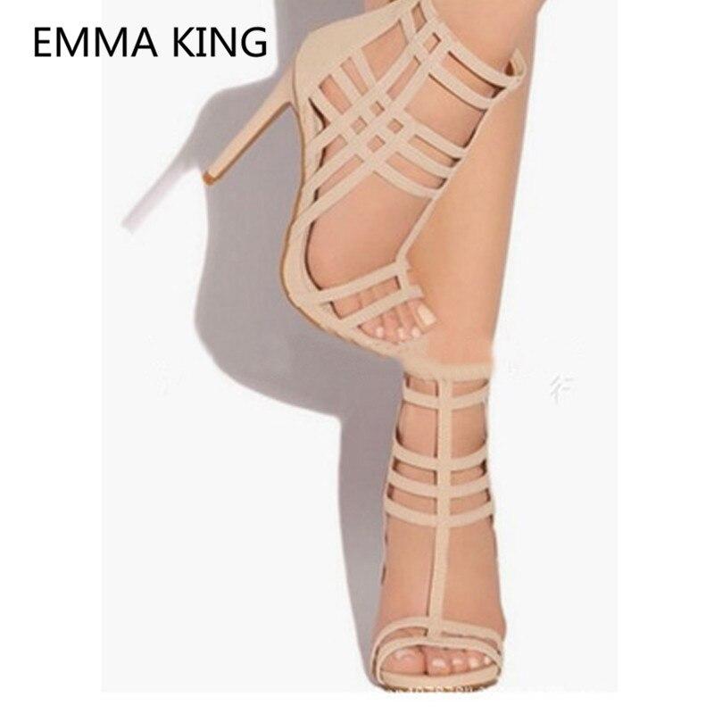 1ab52ca44172e3 Bout Femme D'été Dames As Shown Picture Beige Femmes 2019 Découpe Sexy In  Romaines À Talons De Sandales Chaussures Spartiates Hauts Ouvert Mariage ...