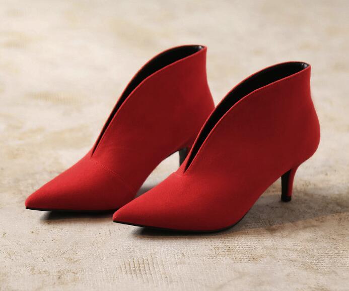 red Européenne Mince Fille Mode Point Sexy Design Profonde Toe De Femme apricot V A059 Élégant Madame Black Talon Chaussures Xgravité Femmes HBqdXwIxH