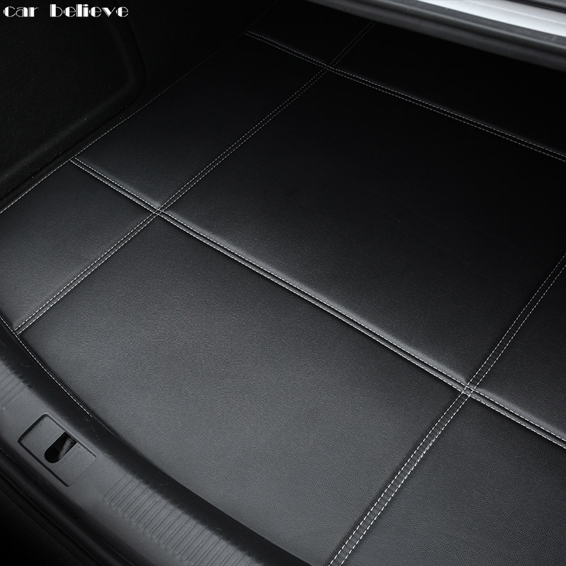 Car Believe Car Trunk Mat For Mitsubishi ASX outlander lancer 10 pajero sport car Accessories styling cargo liner yuzhe 2 front seats auto automobiles car seat cover for mitsubishi lancer outlander pajero eclipse asx car accessories styling