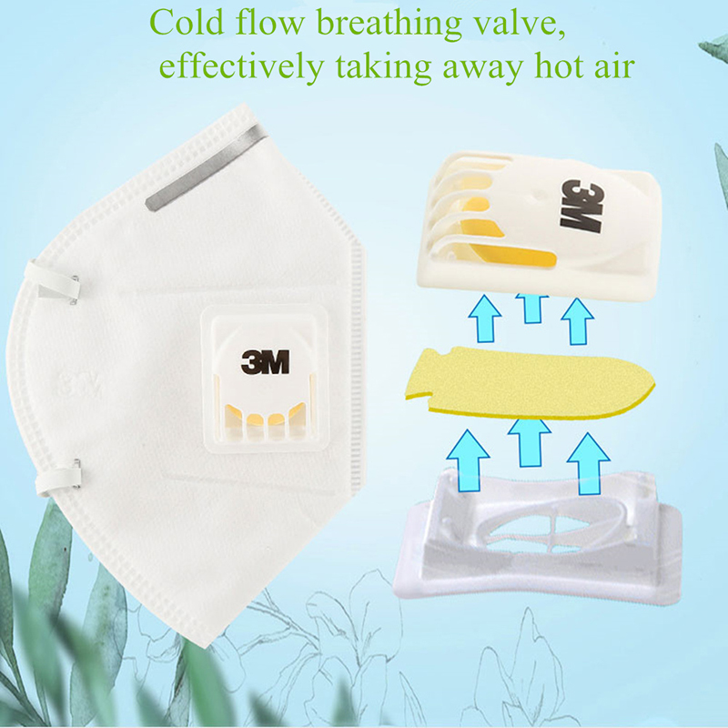 3M 9001V KN90 Vent Anti-dust Masks Anti PM2.5 Industrial Construction Dust Pollen Haze Gas Family&Pro Site Protection Tool