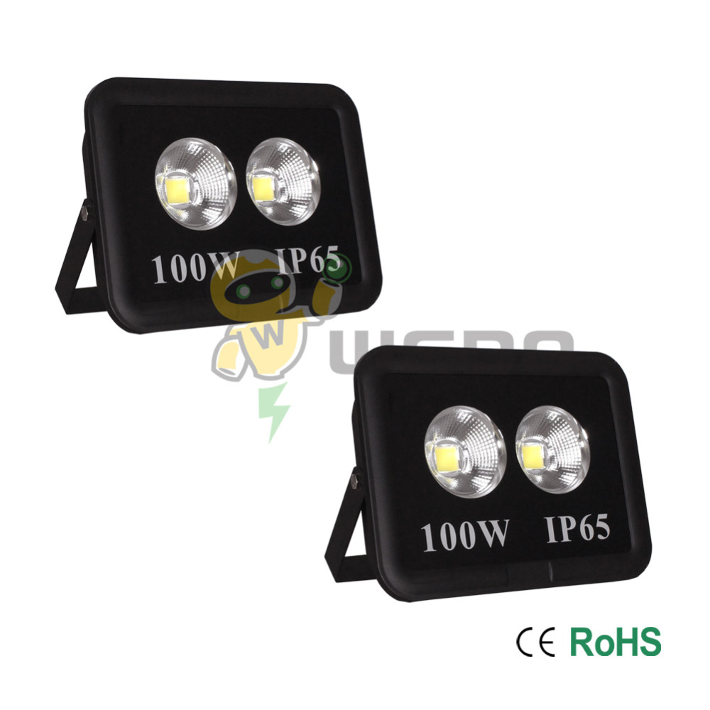 2 PCS 100W LED Flood Light Waterproof Outdoor Lamp IP65 Blackbody Cool White/Natural White/Warm White 85-265V winsune 2 100w cool white