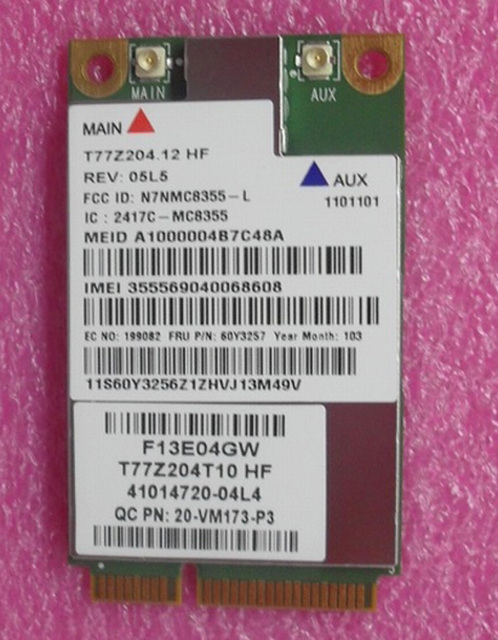 Разблокирована Gobi3000 MC8355 3 Г GPS WWAN Карта 60Y3257 Mini PCI-e HSPA EVDO для L420 Thinkpad E430 X230 X220 T420 T430 T520 T530 X1