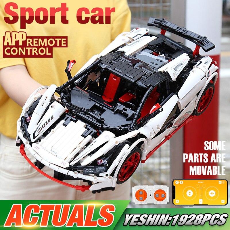 DHL Yeshin 20087 Compatível Com a Série Do Carro Técnica Com Ícaro Legoings MOC-16915 Branco Conjunto Carro Crianças Blocos de Construção de Tijolos para Carros de RC