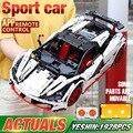 DHL серия Yeshin 20087 Technic Car, совместимая с новым MOC-16915, белый Icarus, набор для автомобиля, детские строительные блоки, кирпичи, приложение, RC автомоби...