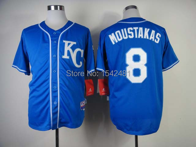 bd0867300 2015 new Coolbase  8 kansas city royals mike moustakas jersey throwback  men s baseball cheap authentic sport stitched shirt