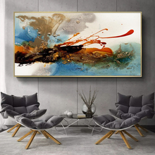 Modern Abstract Oil Painting Posters and Prints on Canvas Wall Art Color Rhythm Pictures for Living Room Decor No Frame