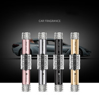 New Arrival Car Frangance Air Conditioning Vent Perfume With Luxury Rhinestone Pave Universal Car Perfume Clip