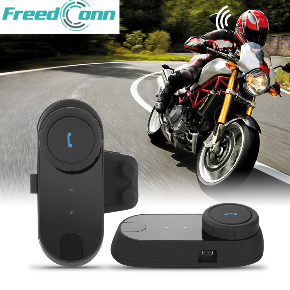 FREEDCONN TCOM - 02 Motorcycle Helmet Interphone Communication Kit Helmet Bluetooth Headset For Full Face Helmet
