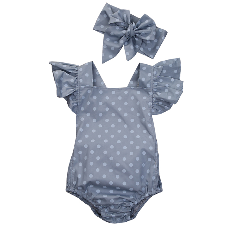 Summer Rompers Baby Clothing Newborn Baby Girls Infant Clothes Polka Dot Sleeveless Cute Romper Girl Cotton Jumpsuit Sunsuit Set newborn infant baby girl boys cute rabbit bunny rompers jumpsuit long sleeve clothing outfits girls sunsuit clothes