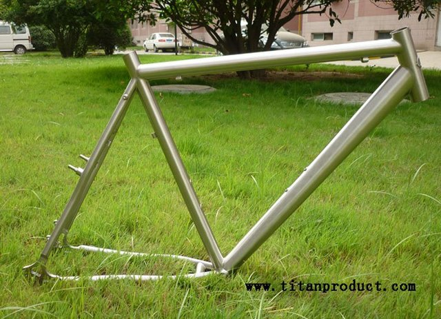 Titanium Cyclocross Frame (with Disc and V Brake, Mudgard and Rack ...