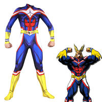 Anime My Hero Academia Boku no Hero Academia Cosplay Costume AllMight Zentai Bodysuit Suit Jumpsuits