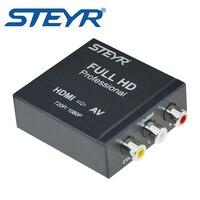 STEYR Mini HD Video Converter Box HDMI To RCA AV CVSB L R Video 720P 1080P