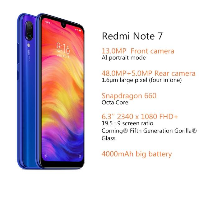 Global Version Xiaomi Redmi Note 7 4GB RAM 64GB ROM