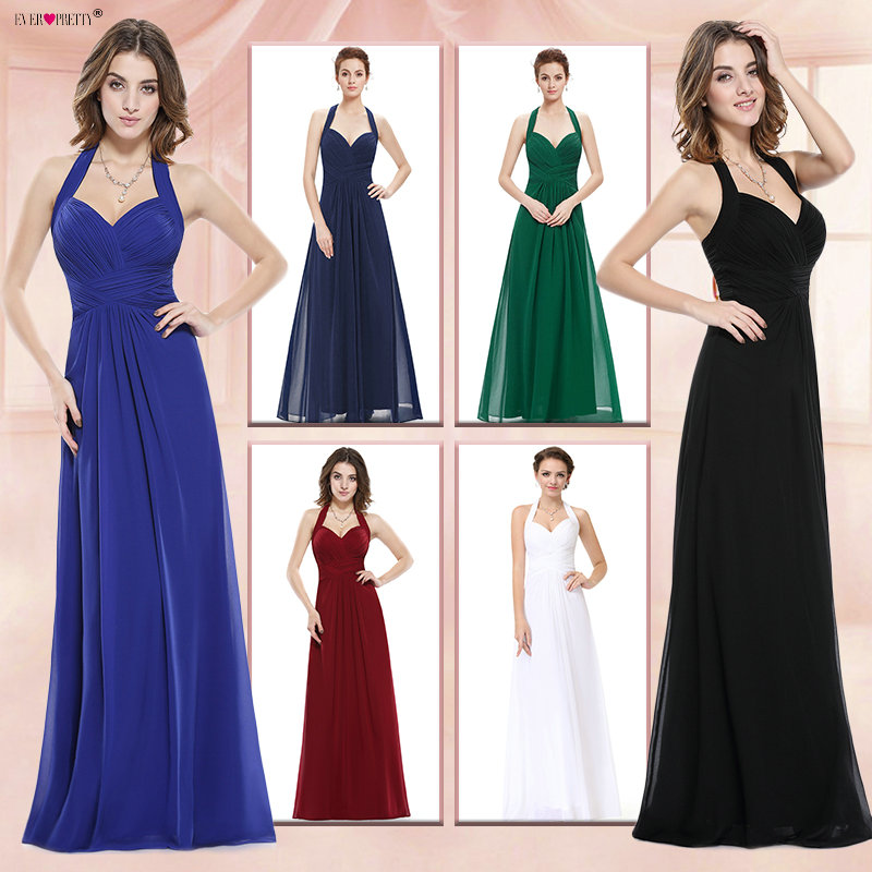 Sapphire Blue   Prom     Dress   A Line Ever Pretty New Arrival Sexy Empire Halter Long Maxi EP08487 Sleeveless Long   Prom     Dresses   2018