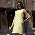 Veri Gude Лето Платье Дамы Элегантные Линии Платье Сплошной Цвет Печати Шаблона